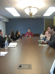 At the CRDM social media roundtable