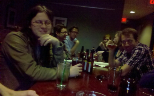 CRDM recruitment visit dinner at Busy Bee