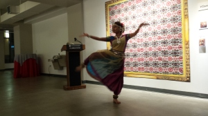 Kaustavi Sarkar, PhD Student in Dance at The Ohio State University, performed at the reception.
